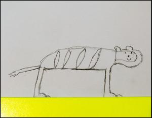 Kinderzeichnung Tiger