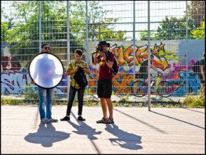 Berlin, Schöneberg, Gleispark, Videodreh, September 2016