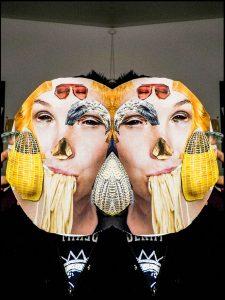 Collage, Gesichter, kreativ