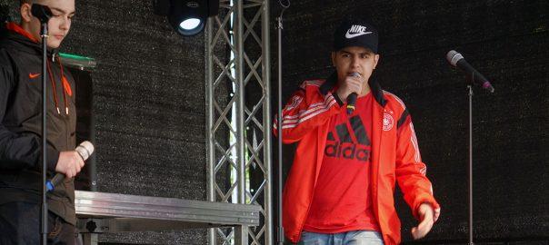 Hip Hop Musiker auf der Bühne